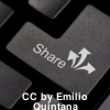 Image of keyboard with Share button
