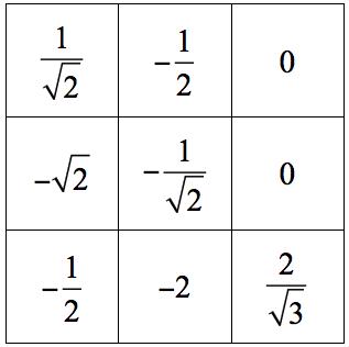 Example bingo student grid