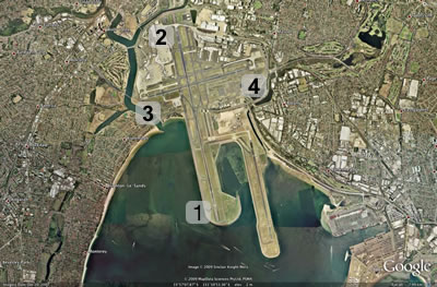 Google Earth image, Sydney Airport