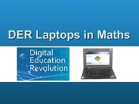 DER Laptops in Maths title screen