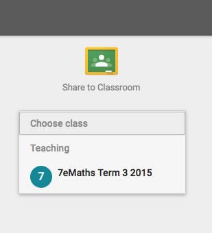 Share to Google Classroom Screenshot