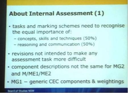 About Internal (HSC) Assessment