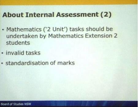 About Internal (HSC) Assessment (2)