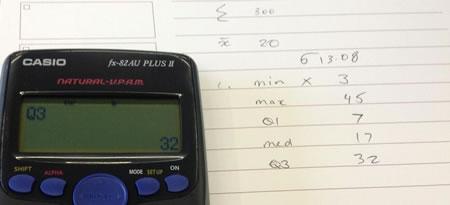 Casio finding quartiles