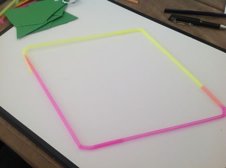 Four bendy straws to make quadrilaterals