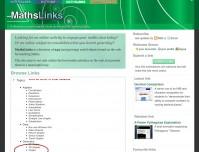 MathsLinks screenshot - browse.