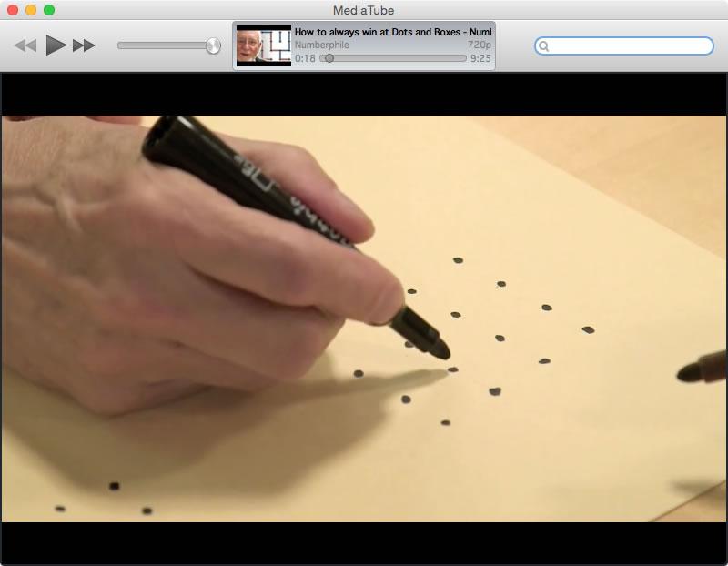 Screenshot of MediaTube Application