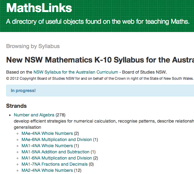 MathsLinks Screenshot